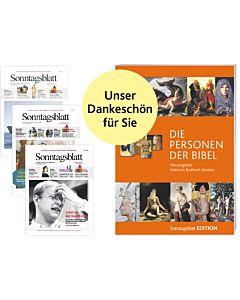 """Sonntagsblatt Glaubenskurs """"Glauben entdecken"""" mit Prämie: Buch """"Personen der Bibel Teil 1"""""""