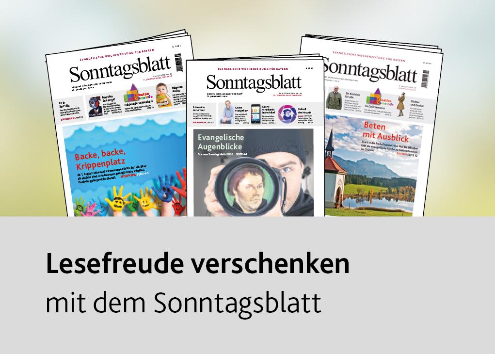 Lesefreude verschenken – mit dem Sonntagsblatt
